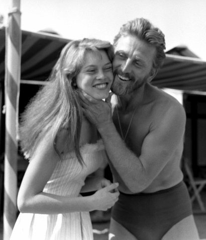 Brigitte Bardot and Kirk Douglass at the Venice Film Festival