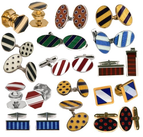 college color cufflinks by Baade II