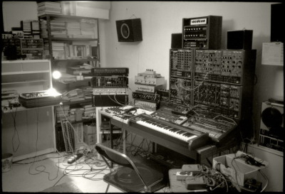 Chris Carter's studio, 1981.