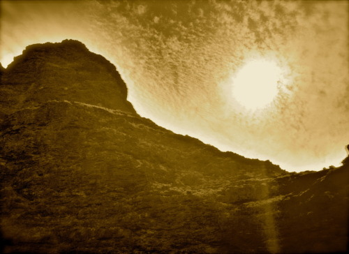 Sepia Sunshine - Napali Coast, Kauai, Hawaii  Photo by: Cam Standish. Edited by: Cam Standish