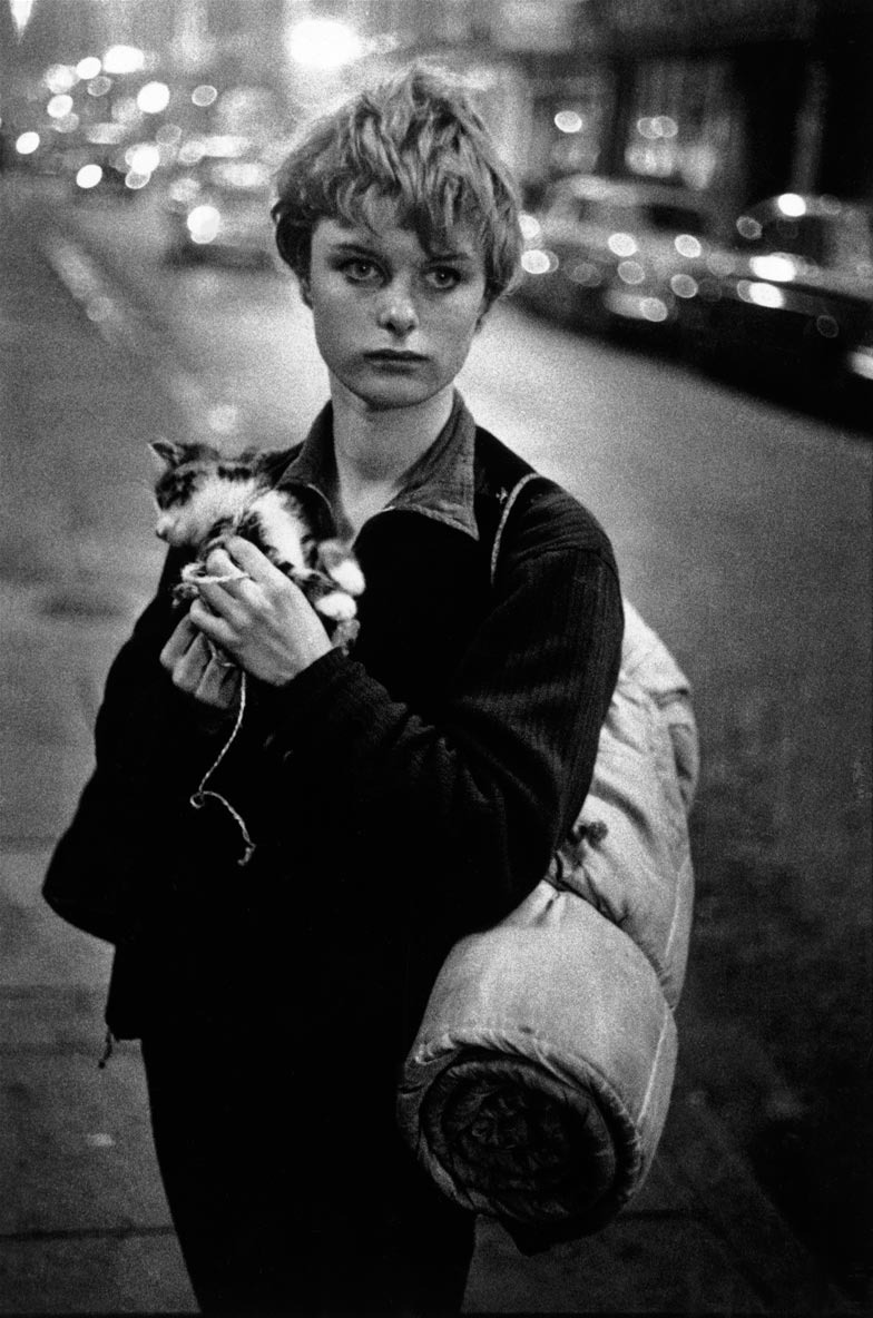 "Bruce Davidson ""Girl with Kitten, London"" (1960)"