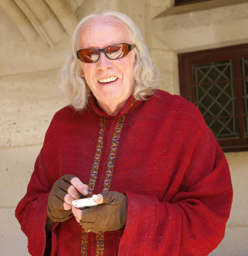 Richard Wilson on set in Pierrefonds, June 2009
