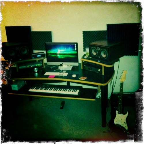 """This is my office, and my Beat Laboratory…"" John S Lens, Kodot XGrizzled Film, Dreampop Flash, Taken with Hipstamatic"
