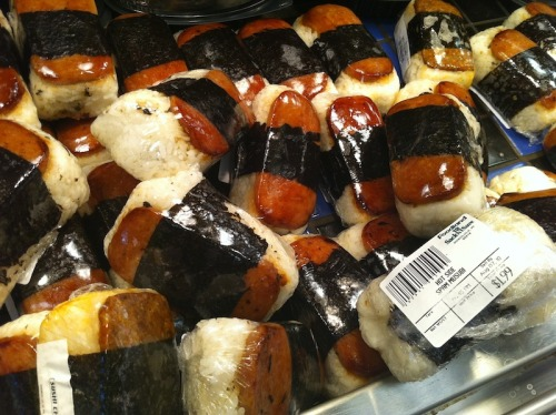 fuckyeahhawaii:  Submitted by karenjane: Different types of spam musubi from foodland =P