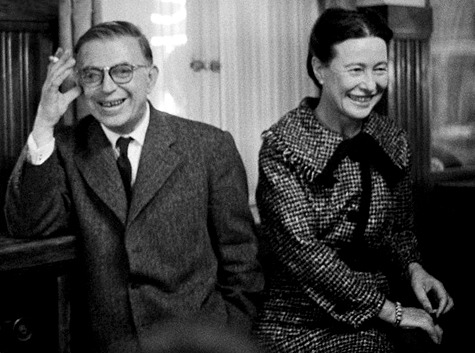 "rhlkamal:  Jean-Paul Sartre and Simone de Beauvoir ""On the day when it  will be possible for woman to love not in her weakness but in strength,  not to escape herself but to find herself, not to abase herself but to  assert herself  — on that day love will become for her, as for man, a  source of life ""  Simone de Beauvoir"