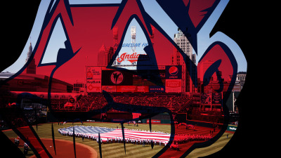 Cleveland Indians wallpaper/background. ..this logo was voted the least favorite sports team logo, by the way.