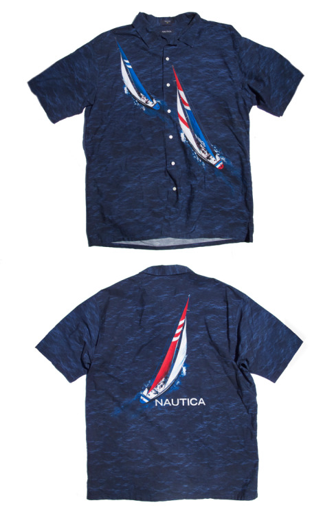 NAUTICA WAVES & SAILBOATS PRINT SHORT-SLEEVE