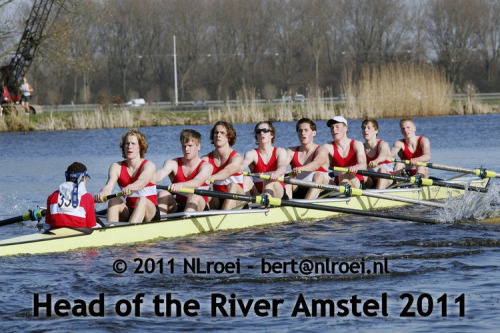 Head of the river Amstel. I'm in the 7 seat