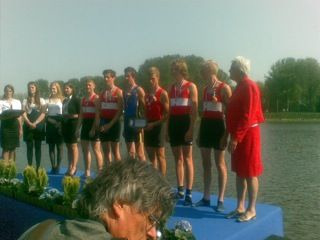 Medal ceremony JM 2- national championships  Me and my teammate are on the left. We came in second