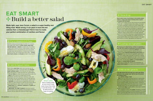 everydayfitness:  Eat Smart, Build a Better Salad From Feel Good Food Spring 2011 (Need to see it bigger? Click Here)