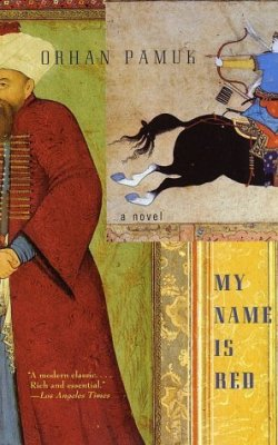 My Name Is Red, Orhan Pamuk (F, 20s, black hair, scrunch black booties w black tights, trench, G train) http://bit.ly/dM3DtS