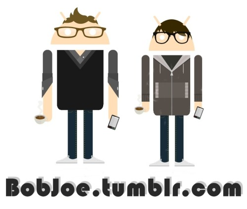 Joe and I made ourselves on the androidify app. I thought they came out pretty cool. Notice the phones and coffee. Those are two things that are always in my hand.