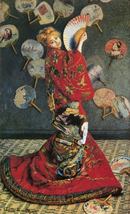 fuckyeah-arthistory:  Madam Monet in Japanese Costume - Monet, 1876