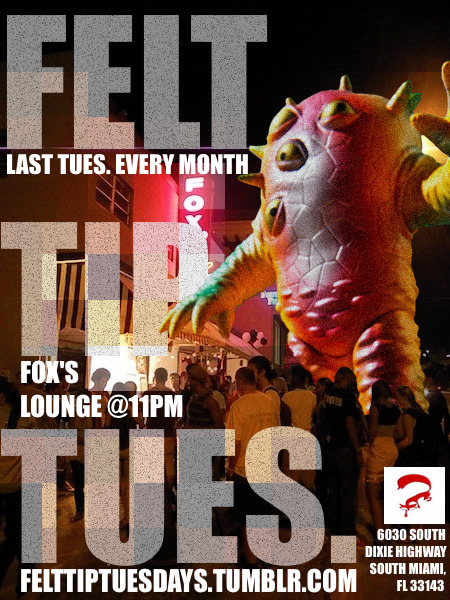 FELT TIP TUES. TONIGHT (04/26) @Fox Sherron Inn 11PM! LIVE ART! PUBLIC FREE-FOR-ALL WALL! DJ CLINT PZWOOD! TWO-FOR-ONE DRINKS! COME THRU!