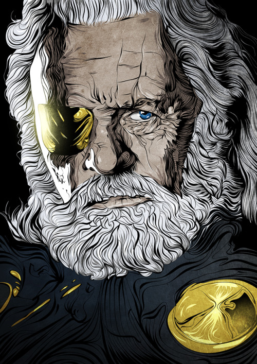2fromboxdesign:  Odin. THOR fanart. Based on movie poster.Done with Ai, Ps and wacom