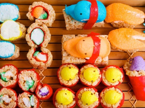 Got Leftover Peeps? Try These Recipes If you didn't stuff your face with sugary-marshmallow Peeps on Easter you might be wondering what the hell do with the rest. How about turning them into Peep sushi?