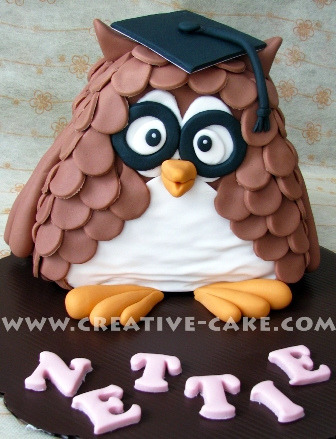Wise Owl Cake (by creativecake)