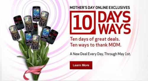 A new deal every day, through May 1st! Celebrate Mother's Day and enjoy these online exclusives