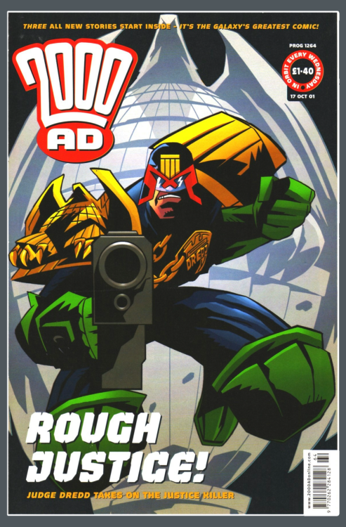 2000ad Prog 1264 - 17th Oct 2001; cover by Adrian Salmon and Chris Blythe.  Adrian Salmon's Blog