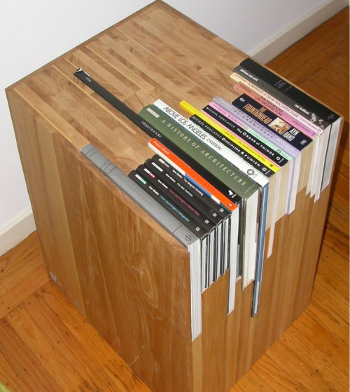 bookshelfporn:  Custom Stacked Book Side Table available on Etsy for $1800. (via Quipsologies)