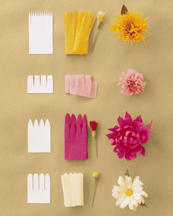 DIY Crepe Paper Flowers via Martha Stewart Weddings