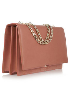 Hexagonal Chain leather shoulder bag by Victoria Beckham
