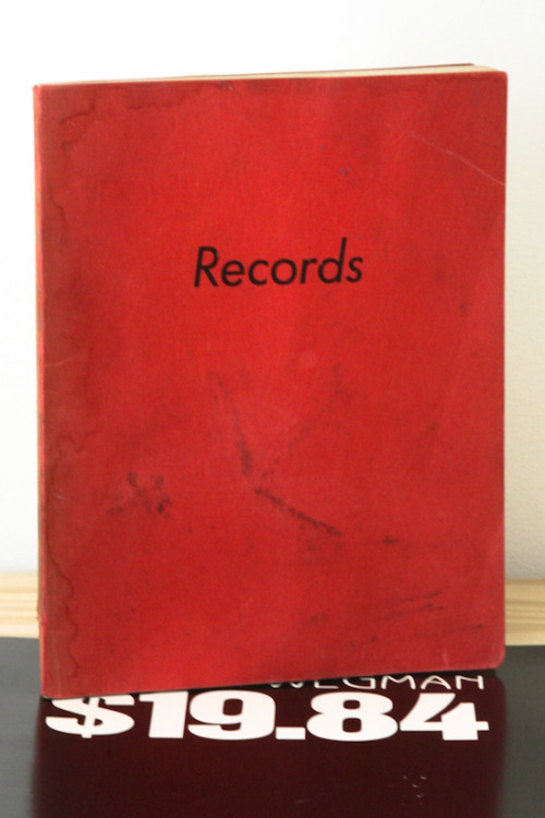Ed Ruscha, Records Heavy Industry Publications, LA, 1971 5½ x 7 inches (18 x 14 cm)  SOLD