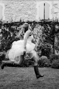 party dress and wellies—the best idea i've heard today :) from http://pinterest.com/pin/1356608/ (via We Heart it )