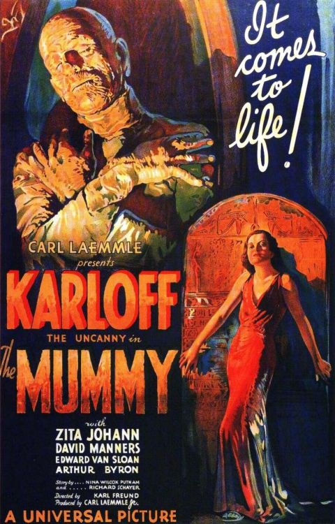 #115 The Mummy (1932)  After uncovering an ancient scroll next to some mummified remains, the archaeologist (Arthur Byron) reads it only to have the mummy reanimate itself and escape. Several years later the archaeologist's son (David Manners) is led by a mysterious man (Boris Karloff) to another tomb. As the site is excavated it becomes clear the man, the tomb and a young girl (Zita Johann) bearing a striking resemblance to the tombs inhabitant all have some sort of connection to one another. This was another enjoyable flick from the universal monster era. This film isn't quite what you expect in terms of a mummy movie however. Karloff is only really in the bandages at the very beginning of the film while the rest of the time dressing in normal clothing. Karloff was probably more interesting in this role than that of the monster in Frankenstein but I imagine that's because he gets to talk more in this one. All the other actors play their parts well and the story is interesting enough to keep you entertained. This film seemed to be somewhat linked to Dracula for some reason. The opening credits use the same classical score and two of the lead actors (Manners and Edward Van Sloan) plays some what similar roles in both films. It's also quite slow paced, like Dracula was, and has the same problem of dragging along just a bit. A couple of interesting facts about this film are that it's one of the only universal monster movies not to have a direct sequel. 3 other mummy movies would be made after it but they all centred around a different mummy which portrayed the slow shambling mummy we are more familiar with. Also the 1999 film staring Rachel Wiesz and Brendan Fraser is loosely based on this version, rather than the others. This can be seen in the desire of Imhotep (Arnold Vosloo) to kill a living person to reincarnate his former lover in much the same way Karloff's Imhotep does. Better than Dracula but not as good as Frankenstein 3/5