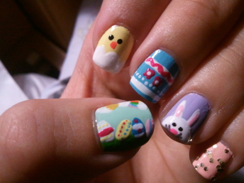 So cute! Check out Beautylish user Charleen G.'s Easter inspired nails!