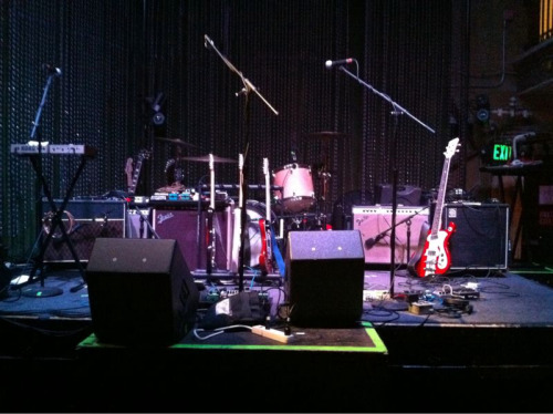 Stage is set for the show at Johnny Brenda's tonight