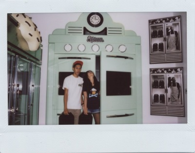 johnnylacephotography:   Me and Yuck at Johnny Cupcakes Store. It was our first time there and it was dope, great people to exchange words with.  I NEED to get to that store. My nickname is cupcake…so yeah. Also, I want to be just like the founder.