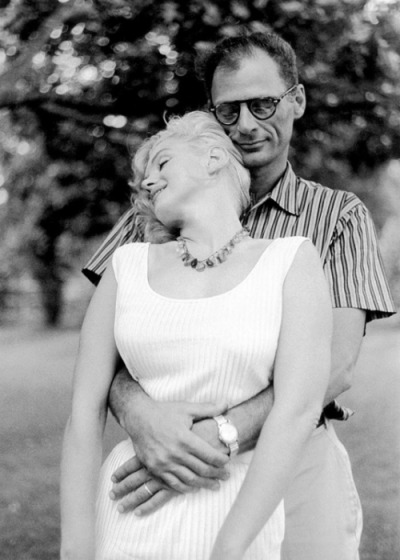 Marilyn Monroe and Arthur Miller.