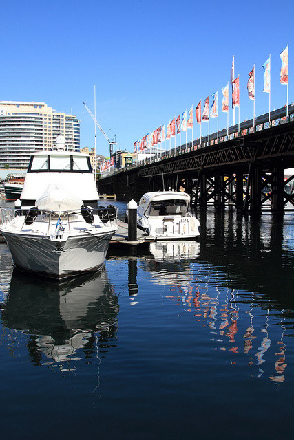 Darling Harbour on Flickr.I like the blues #dailyimage 27.4.11