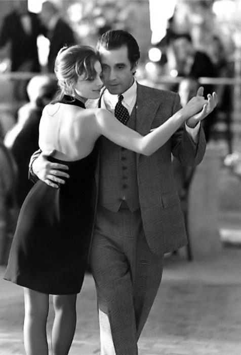 """No mistakes in the tango, darling. Not like life, simple, that's what makes the tango so great. If you make a mistake, get all tangled up, you just tango on."" suite-251:  Al Pacino dancing Tango…"