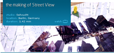 The making of Google 'Street View' by Sehsucht.