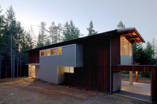 architizer:  House for Two Artists by Marcy Wong Donn Logan Architects (2007) - retrofitting of an old shack made from redwood timbers.
