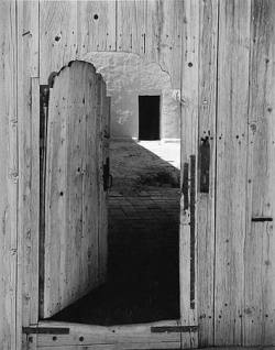 yama-bato:  Eliot Porter Georgia O'Keeffe's Entrance Door (Outside), Abiquiu, New Mexico, October 8, 1949