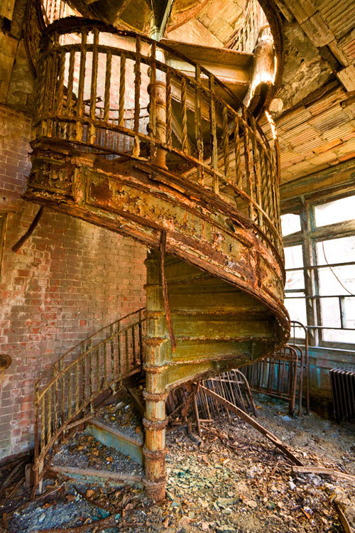 North Brother Island, nurse's building- spiral staircase