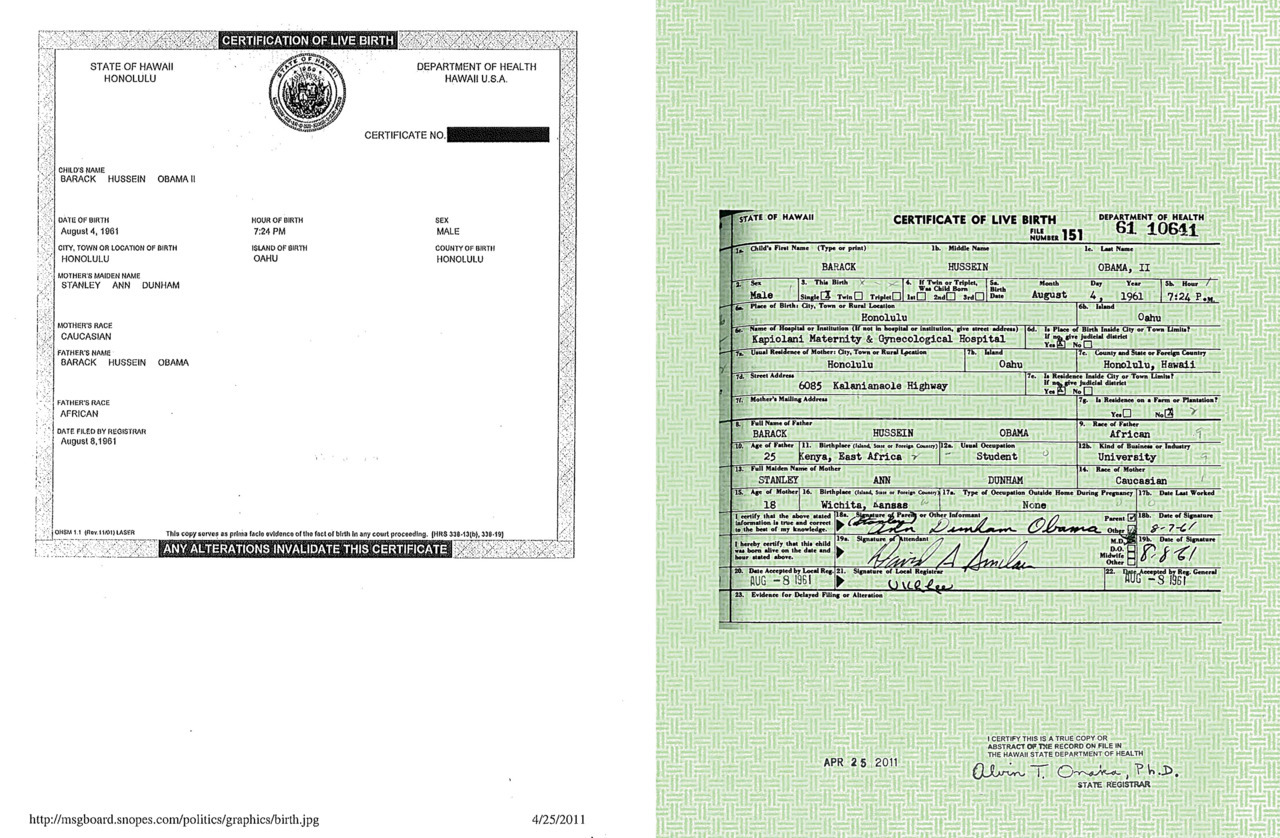 "White House releases Obama 'certificate of live birth'U.S. President Barack Obama sought Wednesday to quash conspiracy theories alleging he was not born in the United States as the White House released his long-form birth certificate.In an extraordinary political twist, President Obama made a statement in the White House press briefing room about the controversy, after aides said he felt it was distracting from important political debates.The President said Wednesday he was bemused over conspiracy theories over his birthplace, and said the media's obsession with the ""sideshow"" issue was a distraction in a ""serious time.""""We don't have time for this kind of silliness,"" Obama said, adding that he was puzzled that the controversy fanned by conservative pundits and some of his political foes had rumbled on for two-and-a-half years.""The president feels this (controversy) is bad for the country, that it is not healthy for the political debate,"" White House press secretary Jay Carney said earlier on Wednesday. (Photo: The White House/AFP/Getty Images)"