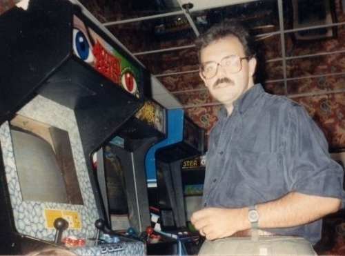 dadsaretheoriginalhipster:  Your dad played video games before you did and he has the high scores to prove it. Back then, the arcade was where boys were chiseled into legends of men . Your dad went there to show off his stick tricks and button slamming skills while playing for three letter trophies. Your mom was there too, along with the rest of the local talent pool, and they would peer over his shoulder and swoon in awe at the surgical precision he commanded each game with. So hipsters, next time you're sitting in the back of a dive bar dispensing your laundry fund into a game with dreams of being the next King of Kong, remember this… That's your dad's high score on every arcade game you've ever played and no one has been able to dethrone him in over 20 years. Much thanks to Katie C. for the photo submission.