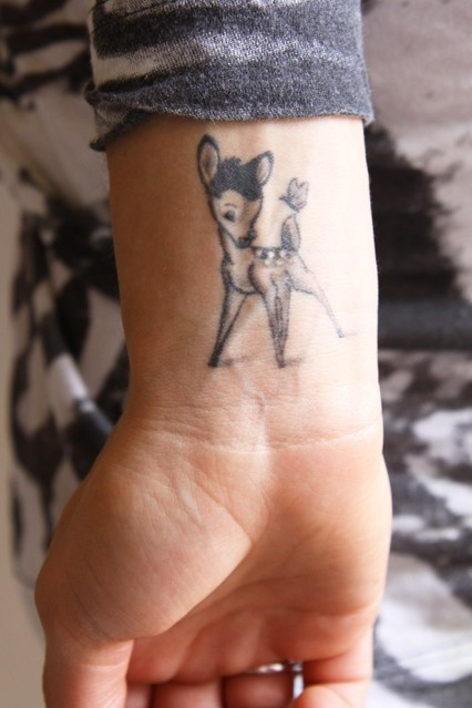 bl-ossomed:  i love bambi's tattoo