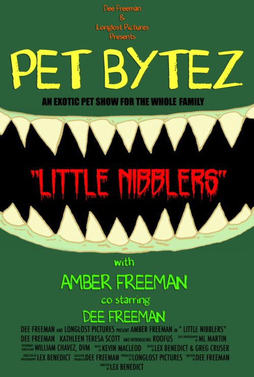 "Poster I did for our Exotic Pet Show, Pet Bytez with Dee and Amber Freeman!  Website going up this week! First Episode ""Little Nibblers"" Coming soon!  So if you got exotic pets be on the lookout for some great tips and tricks coming to a computer near you!"