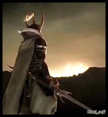 [Picture: Warrior of Light from FF1, Dissidia version. He's standing with his back to the viewer, sword out, while watching something bright off in the distance.]