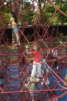 Giant Spider Web at the Science Playground