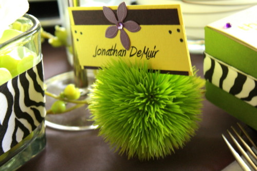 DIY escort cards ~Designed by Me~