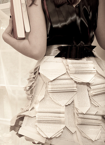 We love this dress made out of books! Share your pictures with us on Facebook and Twitter.