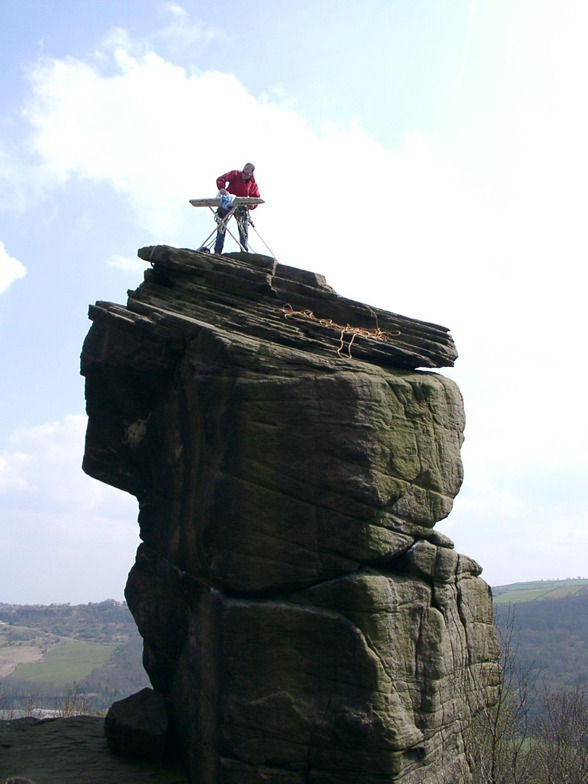 Extreme Ironing (or EI) is an extreme sport and a performance art in which people take an ironing board to a remote location and iron items of clothing.