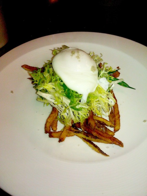 Frisse salad with a poached egg at Sprout
