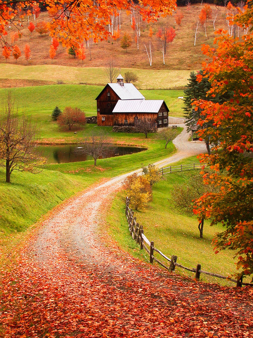 sunsurfer:  Sleepy Holly Farm, Woodstock, Vermont photo from Icabod Crane  omg its breath taking